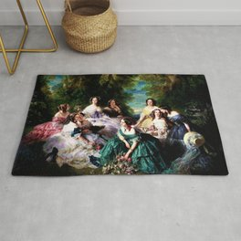 "Franz Xaver Winterhalter's masterpiece ""The Empress Eugenie surrounded by her Ladies in waiting"" Rug"
