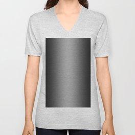 Black to White Vertical Bilinear Gradient Unisex V-Neck