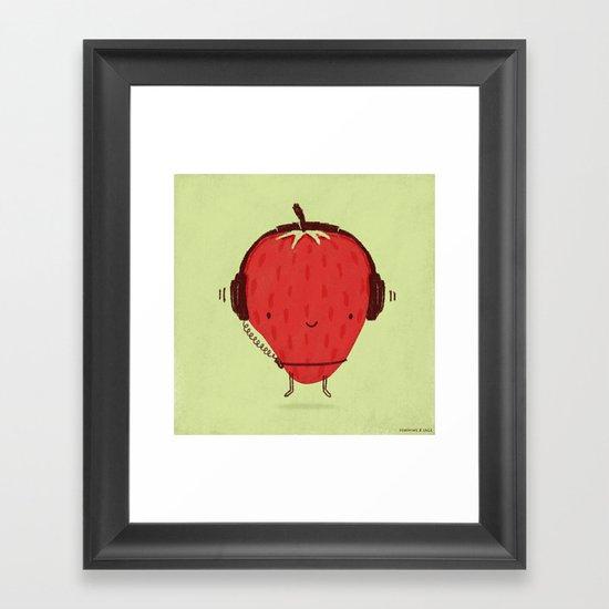 Strawberry Jammin' Framed Art Print