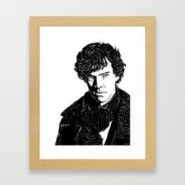 Sherlock B&W Framed Art Print