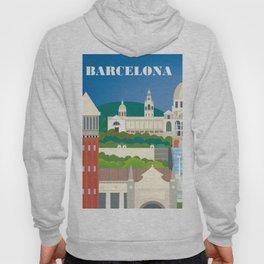 Barcelona, Spain - Skyline Illustration by Loose Petals Hoody