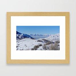 Salt Lake City Smog Framed Art Print
