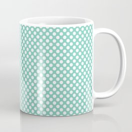 Lucite Green and White Polka Dots Coffee Mug