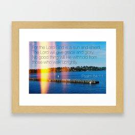 Bible Verse: Sun and Shield Framed Art Print