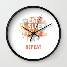 Eat Sleep Music Repeat Musical Melody Acapella Carols Songs Gift Wall Clock