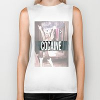 cocaine Biker Tanks featuring Cocaine by Randall Hansen