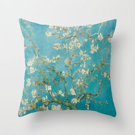Vincent Van Gogh's Branches of an Almond Tree in Blossom Throw Pillow