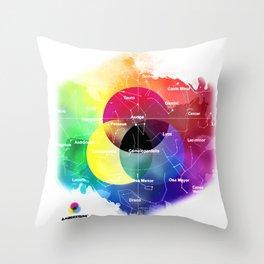 230 CMY+ Throw Pillow