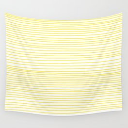 Yellow Lines dancing striped Wall Tapestry