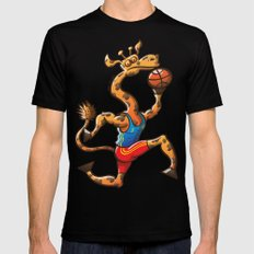 Olympic Basketball Giraffe Black Mens Fitted Tee X-LARGE