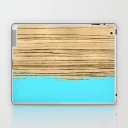 Dipped Wood - Zebrawood Laptop & iPad Skin