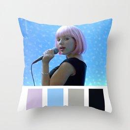 Scarlett Johansson Tokyo Karaoke Throw Pillow