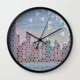Triangled Skyline Wall Clock