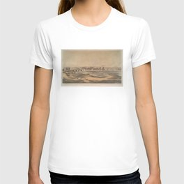 Vintage Pictorial View of Richmond VA (1853) T-shirt