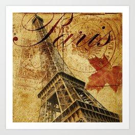 Paris vintage poster. Art Print