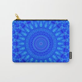 Detailed mandala in blue tones Carry-All Pouch