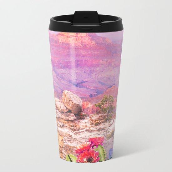 Flowers in the desert Metal Travel Mug