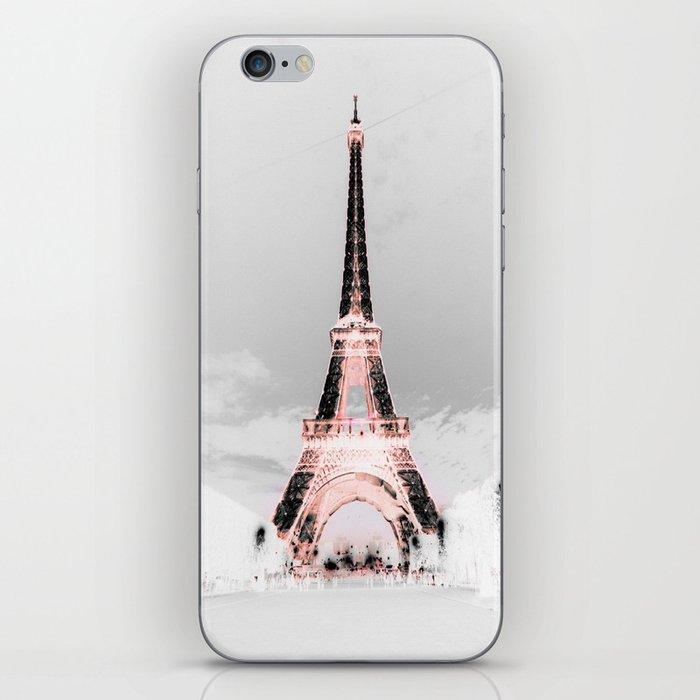 pariS Black & White + Pink copyright 2sweet4wordsDesigns iPhone Skin