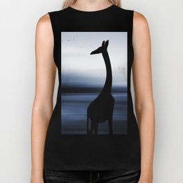 Giraffe and nature Biker Tank