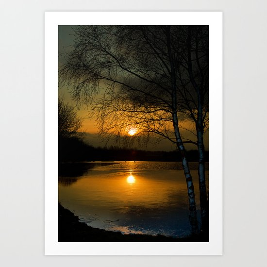 Lagoons Sunset Art Print