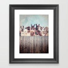HAPPY FAMILY - ALPACA & LLAMA Framed Art Print