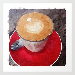 I Heart Coffee Art Print
