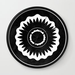 Flower Eye Graphic T Wall Clock