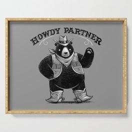 Howdy Partner Serving Tray