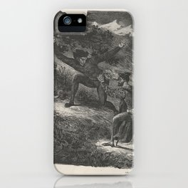 Faust and Mephistopheles in the Hartz Mountains (Goethe, Faust),1825–27 iPhone Case