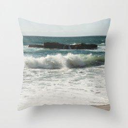 Sesimbra beach, Portugal, Praia das Bicas Throw Pillow