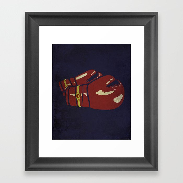 Power Boxing Framed Art Print