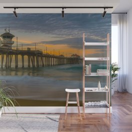 Long Exposure Sunrise at Huntington Pier Wall Mural