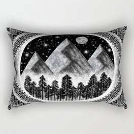 Mountains & Stars Rectangular Pillow
