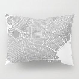Brooklyn map grey Pillow Sham