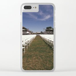 setup for the pope Clear iPhone Case