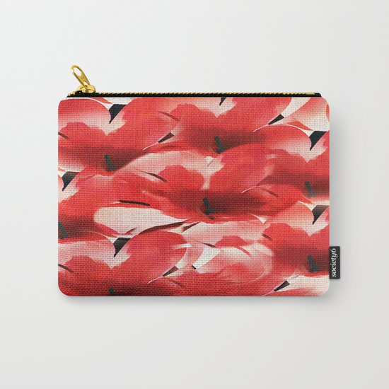 Red Poppies - Painterly Carry-All Pouch