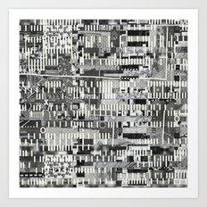 Exploiting Digital Behavior (P/D3 Glitch Collage Studies) Art Print