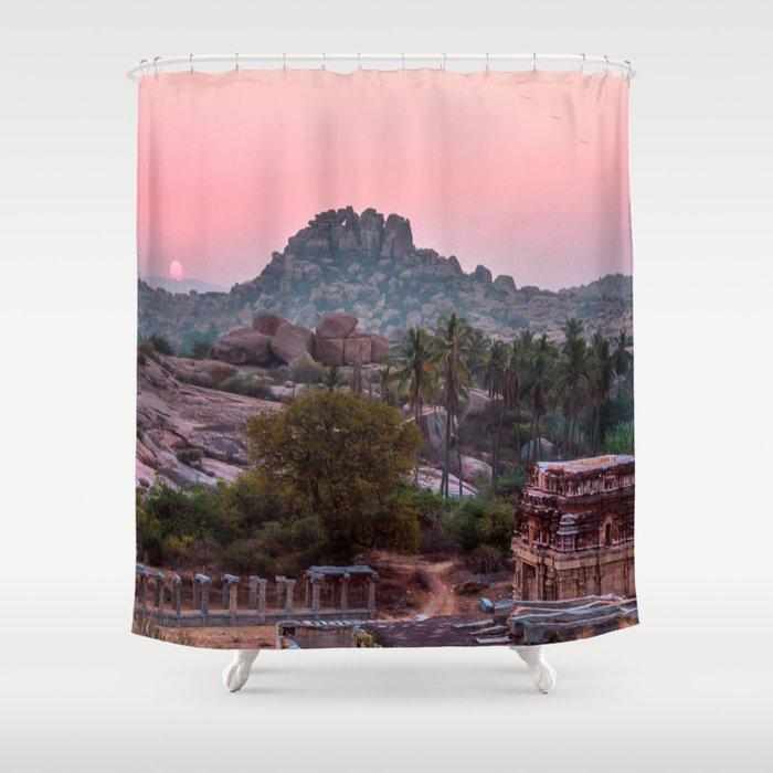 Jungle Book Sunrise Shower Curtain By Svetlanakorneliuk