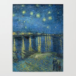 Van Gogh, Starry Night Over The Rhone Artwork Reproduction, Posters, Tshirts, Prints, Bags, Men, Wom Poster