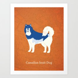 Canadian Dogs: Canadian Inuit Dog Art Print