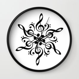 Sol key mandala Wall Clock