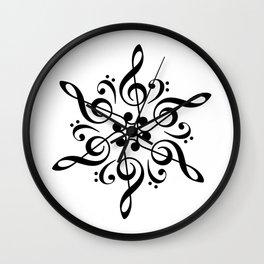 Sol key mandala Wall Clock