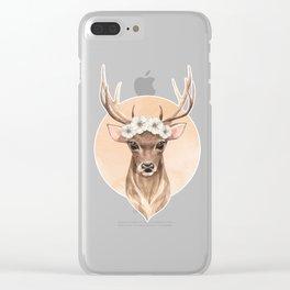 Spring deer Clear iPhone Case