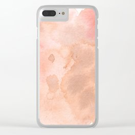 Heart Center Clear iPhone Case