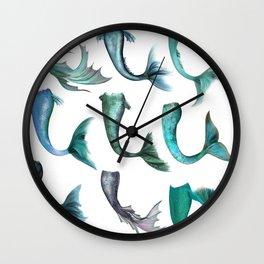 Mermaid Tails Wall Clock