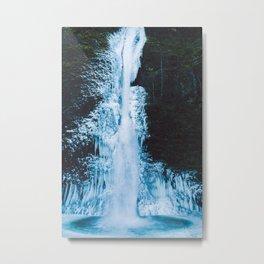 Frozen Horsetail Falls Metal Print