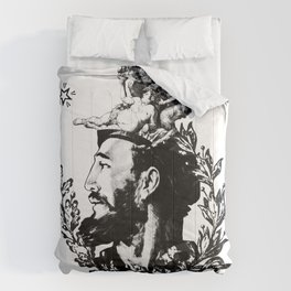 The natural nature of a Cuban Communist Leader. Comforters