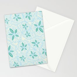 Sea Blue Lily Flower Stationery Cards