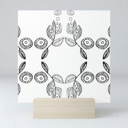 Hand drawn Seed Pods Pattern Mini Art Print