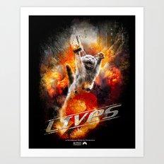 9 Lives  Art Print